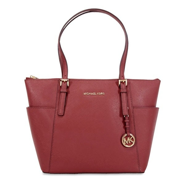 Michael Kors Jet Set Brick Saffiano Leather East/West Top Zip Tote Bag