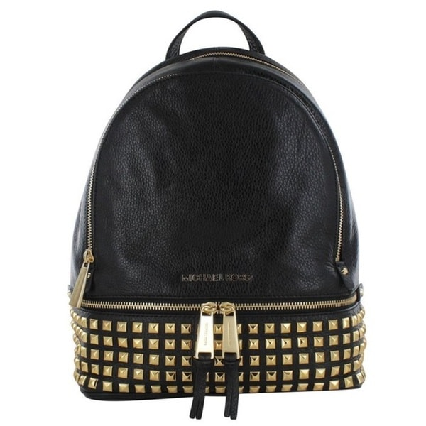Michael Kors Rhea Black Studded Backpack