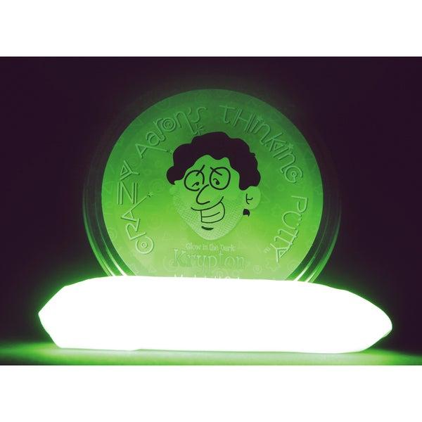 Crazy Aaron's Puttyworld KR020 Krypton Green Glow In The Dark Thinking Putty