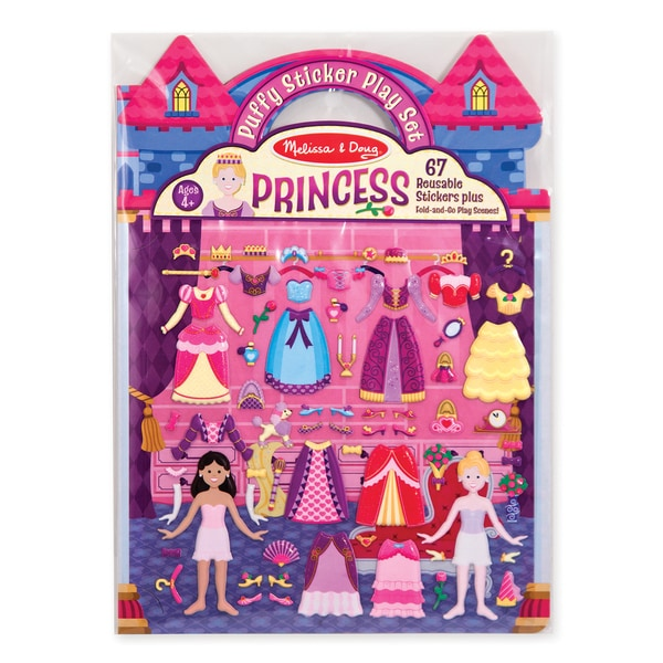 Melissa & Doug 09100 Puffy Princess Sticker Play Set