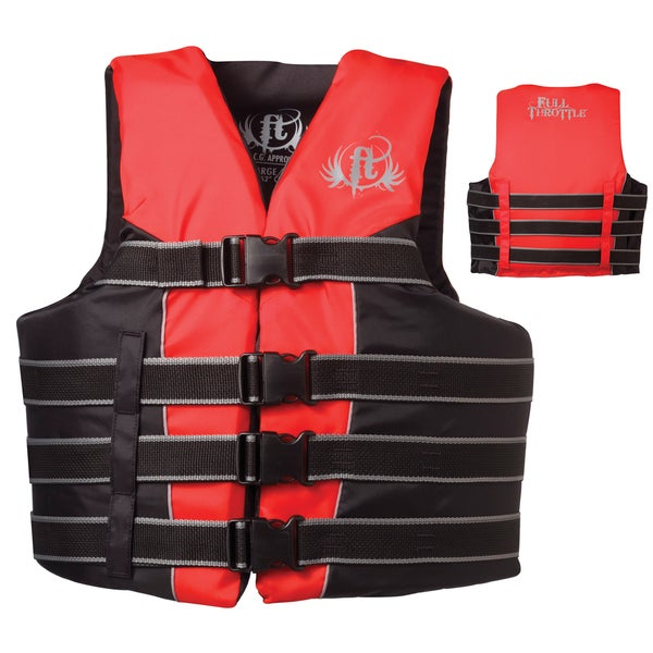 Full Throttle Small To Medium Adult Red Nylon Ski Vest