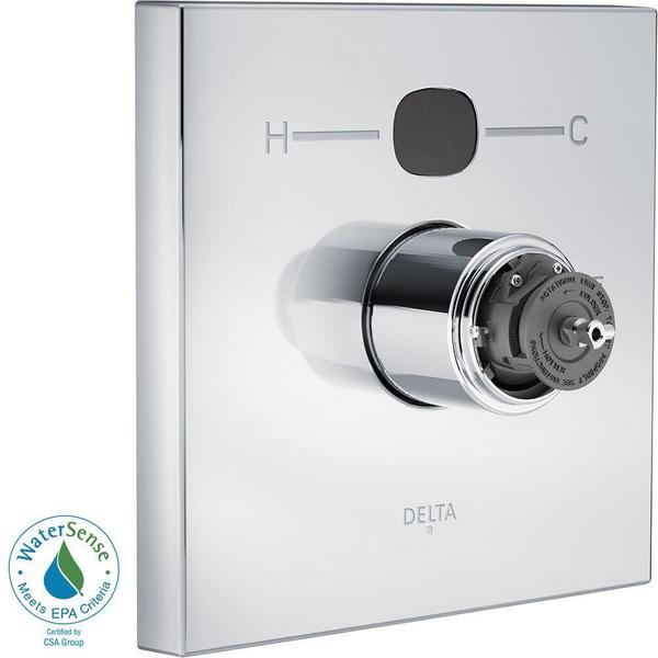 Delta Temp2O Square 1-Handle Valve Trim Kit in Chrome (Valve and Handles Not Included) T14001-T2O-LHP