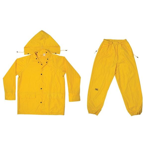 CLC Work Gear R1022X Yellow Polyester Rain Suit 3-Piece