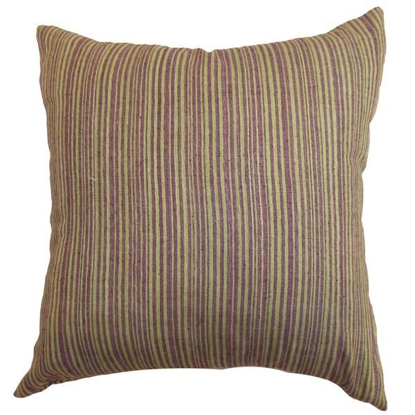 Mace Stripes Euro Sham Lime/Purple
