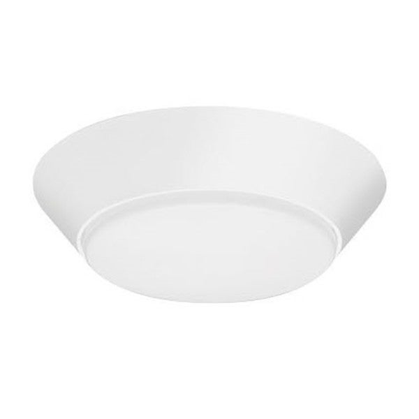 Lithonia Lighting Versi Textured White 13-inch 3000K LED Flush-mount Light Fixture