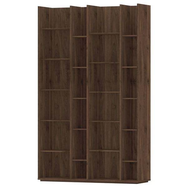 Capri Grey/Brown Wood/Melamine 20-shelf Bookcase