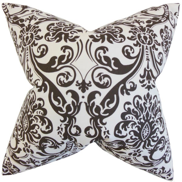 Saskia Damask Chocolate White