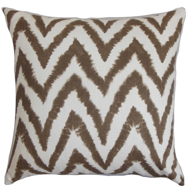Kingspear Zigzag Euro Sham Brown White