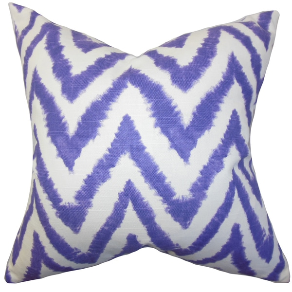 Kingspear Zigzag Euro Sham Purple