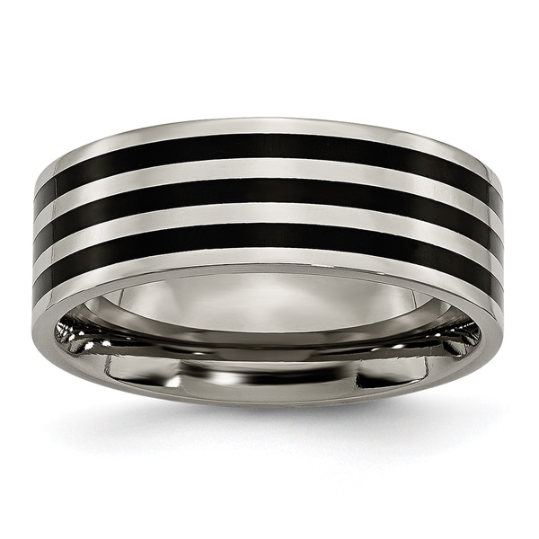 Titanium 8mm Black Band