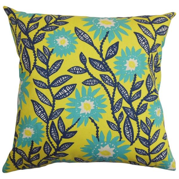 Leena Floral Euro Sham Yellow