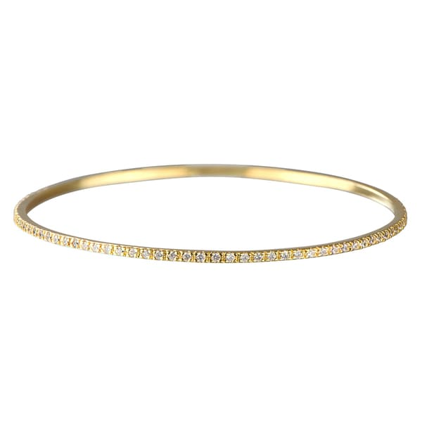 Gold CZ Bangle Bracelet