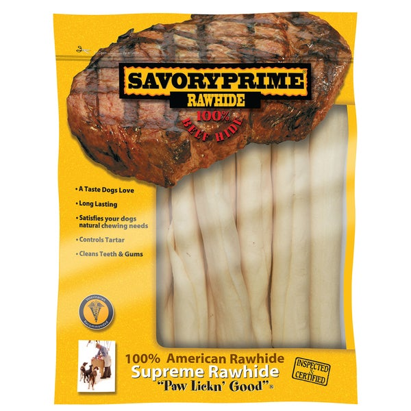 Savory Prime 27130 Mini Supreme Retriever American Rawhide Rolls 7 Count