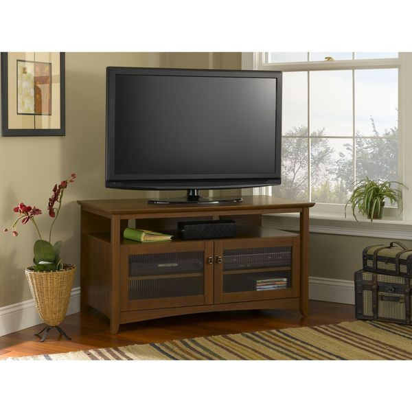 Buena Vista Cherry Wood TV Stand With Storage