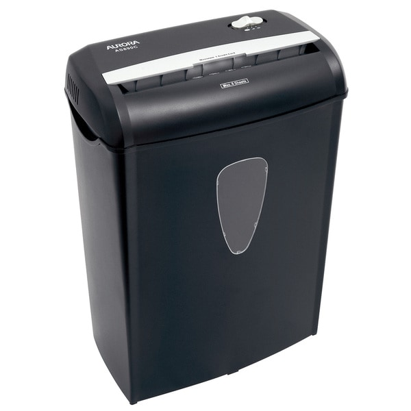 Aurora AS890C Black Light Duty Crosscut Paper Shredder 8 Sheet