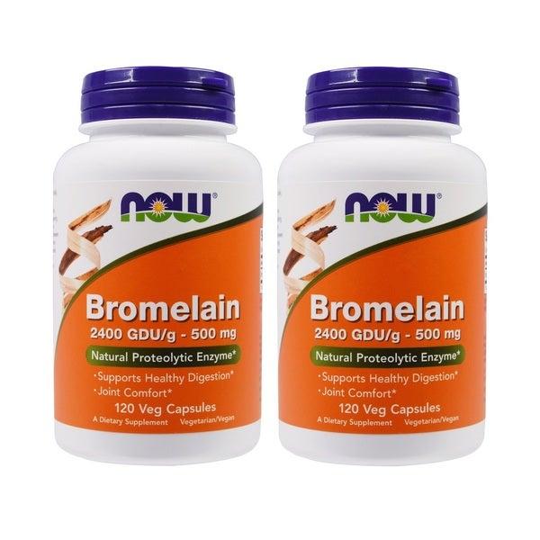Now Foods Bromelain 500 mg (120 Veggie Caps)