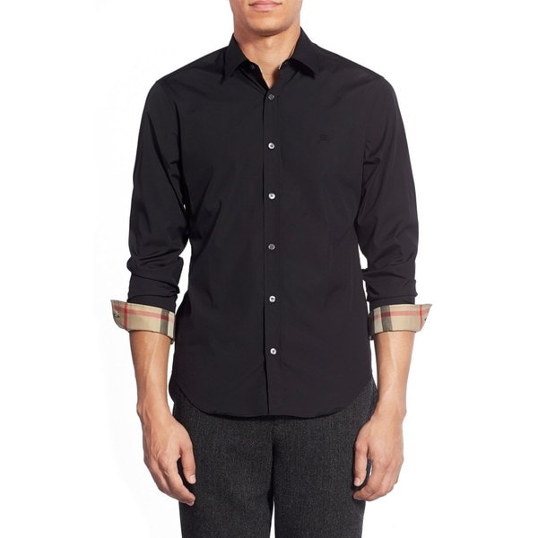 Burberry Cambridge Black Casual Shirt (Size M)