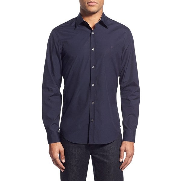 Burberry Cambridge Navy Shirt (Size Large)