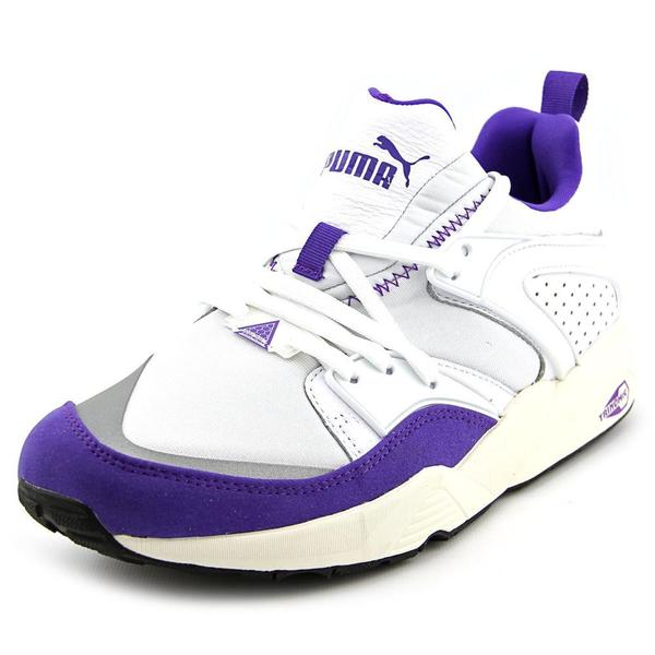 Puma Men's 'Blaze Of Glory' White Leather Athletic Walking Shoes