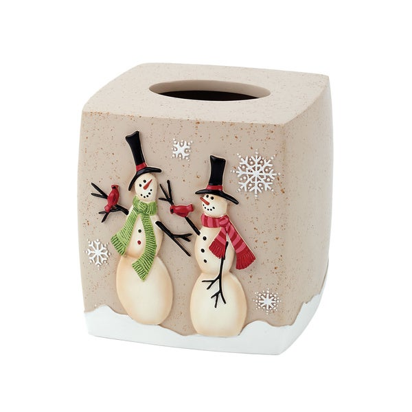 Tall Christmas Snowman Holiday Themed Tissue Cover