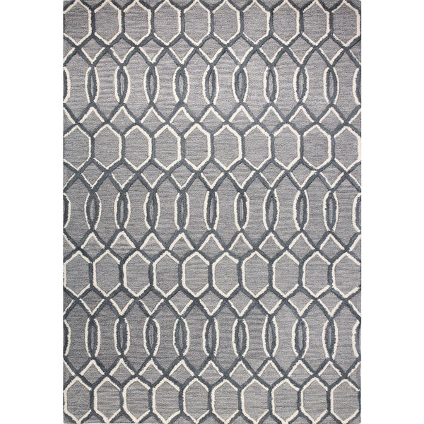 Kelsey Grey Cotton/Wool Area Rug (5' x 7'6)