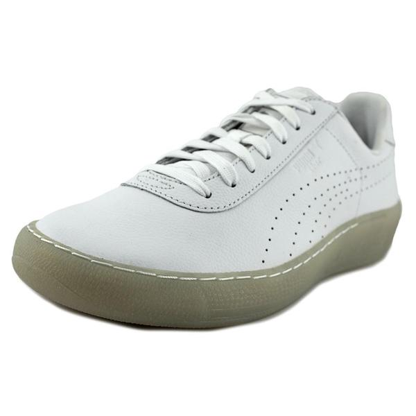 Puma Men's 'Puma Star' White Leather Athletic Shoes