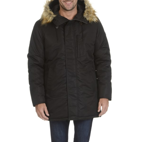Sean John Men's Ultra Warm Storm Parka With Faux Fur Trimmed Hood