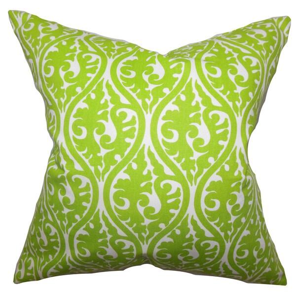 Mechria Geometric Euro Sham Chartreuse Green