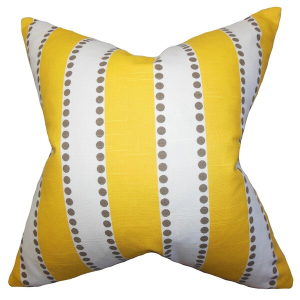 Odienne Stripes Euro Sham Yellow