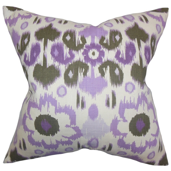 Querida Ikat Euro Sham Purple