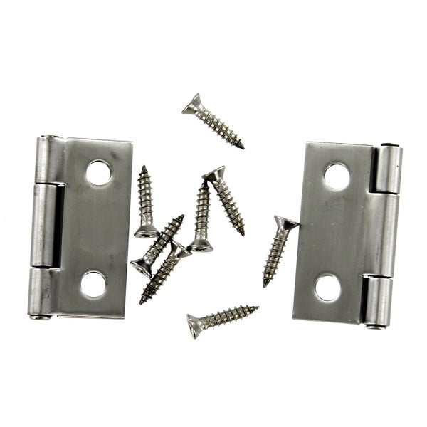 "Stanley S851-139 1-1/2"" Stainless Steel Pin Hinge 2-ct"