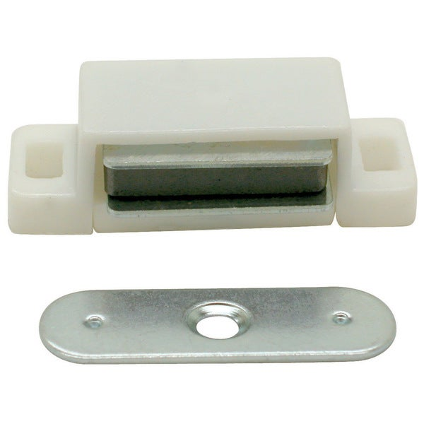 Ultra Hardware 13502 White Designer's Edge Plastic Magnetic Catch