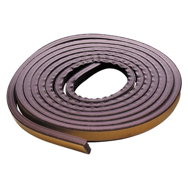 M-D 02550 17' Brown Extreme Temperature P Profile Weather Strip