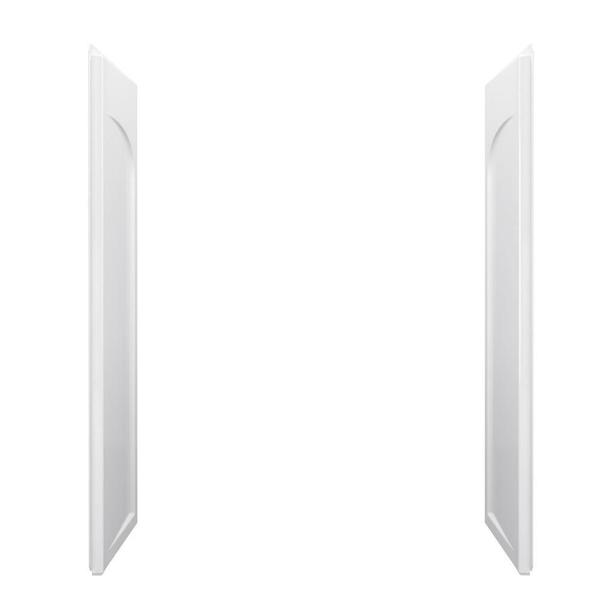 STERLING Ensemble 1 in. x 32 in. x 60 in. 2-piece Direct-to-Stud Shower End Wall Set in White