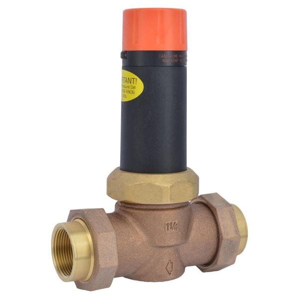 Cash Acme 1-1/4 in. Bronze EB-25 Double Union Pressure Regulating Valve
