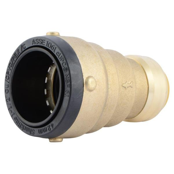 SharkBite 1-1/2 in. x 1 in. Brass Push-to-Connect Reducer Coupling