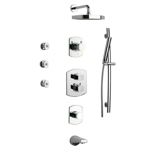 LaToscana Novello Shower System 8 in Chrome