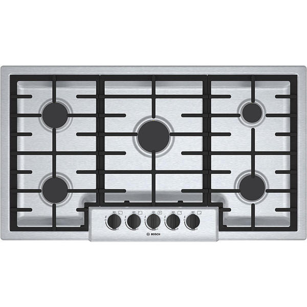 Boschool 500 Series Silver 5-burner Gas Cooktop