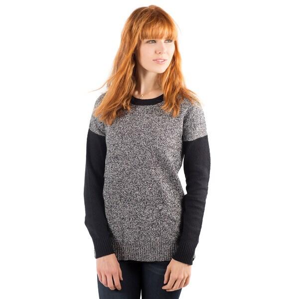 DownEast Basics Women's Prague Contrast Sweater