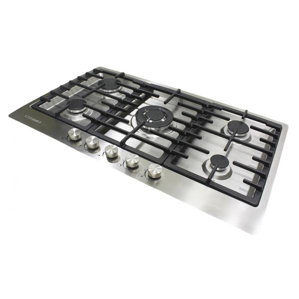 Summit Stainless Steel 34-inch 5-burner Gas Cooktop
