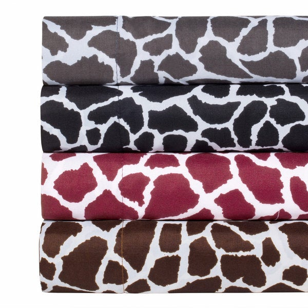 Animal Print Super Soft Microfiber Sheet Set