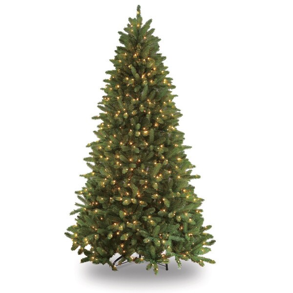 Puleo Tree Company Glacier Fir 7.5-foot Clear 700-bulb Pre-lit Artificial Christmas Tree