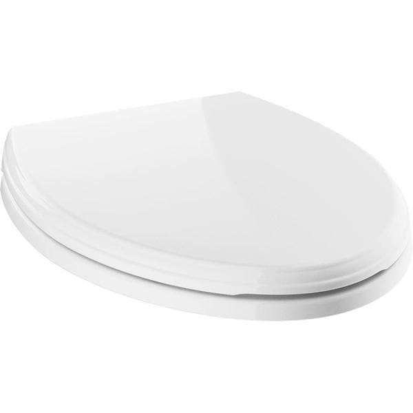 Delta Wycliffe Elongated Closed Front Toilet Seat with NoSlip Bumpers in White