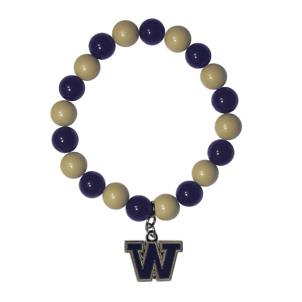NCAA Washington Huskies Sports Team Logo Fan Bead Bracelet 21317508