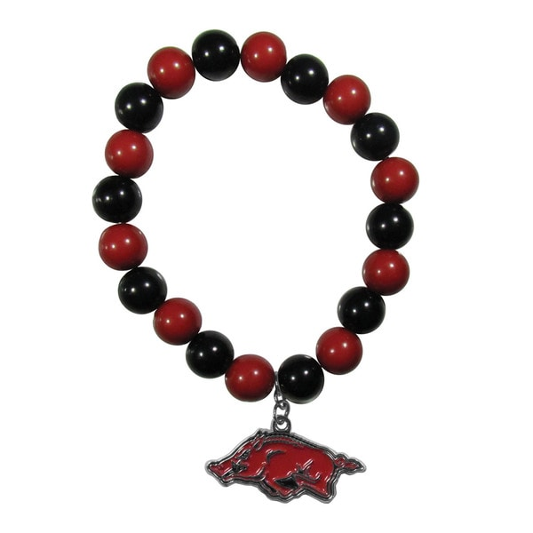 NCAA Arkansas Razorbacks Sports Team Logo Fan Bead Bracelet 21317552
