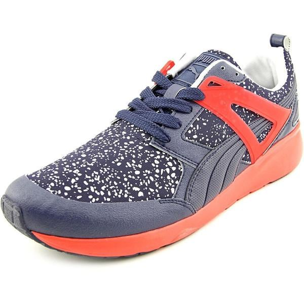 Puma Men's 'Aril Splatter' Faux Leather Athletic Shoes