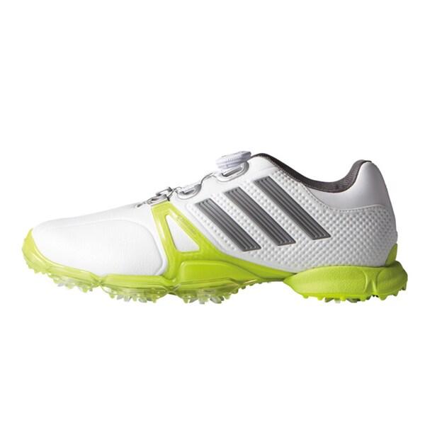 Adidas Powerband Tour Boa Golf Shoes 2016 White/Iron Metallic/Solar