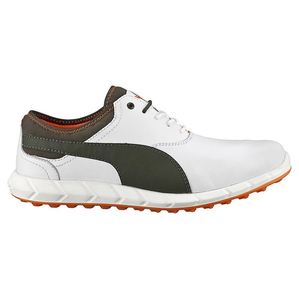 PUMA Ignite Spikeless Golf Shoes 2016 White/Grey/Vibrant Orange