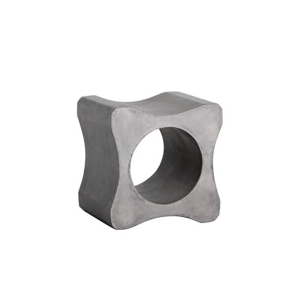 Sunpan Gambit Grey Concrete End Table