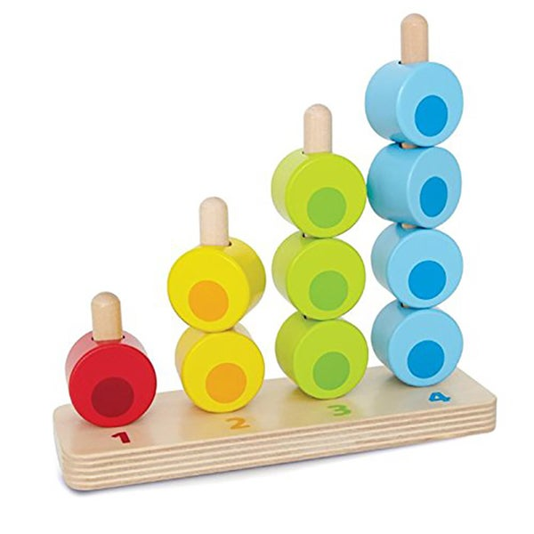 Hape Wood Counting Stacker